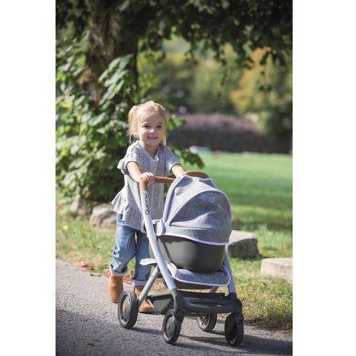 Wózki dla lalek, Smoby Wózek głęoboki dla lalek 3w1 Maxi Cosi Quinny filcowy Gondola Spacerówka