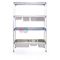 Regał magazynowy aluminiowy 4-półkowy 1120x355x1685 812266