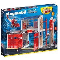 Playmobil - Miasto Akcji - Duża remiza strażacka z helikopterem - 9462