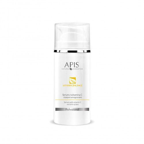 Serum do twarzy, APIS Vitamin Balance serum z witaminą C i białymi winogronami 100 ml
