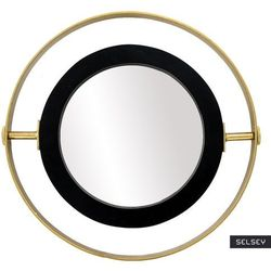 SELSEY Lustro dekoracyjne Guired średnica 60 cm czarno - złote