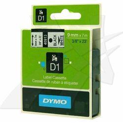 Dymo oryginalny taśma do drukarek etykiet, Dymo, 40913, S0720680, czarny druk/biały podkład, 7m, 9mm, D1