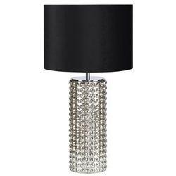 Stojąca LAMPKA biurkowa PROUD 107490 Markslojd nocna LAMPA abażurowa czarna srebrna