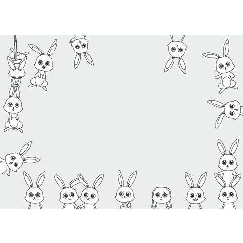 Tablice szkolne, Tablica magnetyczna suchościeralna dla dzieci króliki 487