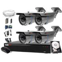 Zestawy monitoringowe, Zestaw do monitoringu: Rejestrator LV-XVR44N, 4x Kamera LV-AL60HVT, 500GB, akcesoria