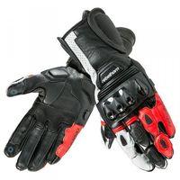 Rękawice motocyklowe, RĘKAWICE REBELHORN BLAZE PRO BLACK/WHITE/FLO RED