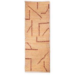 Hkliving ręcznie tkany bawełniany chodnik, brzoskwinia/mocha (70x200) ttk3067