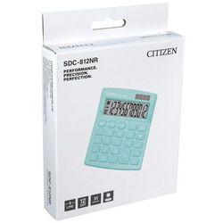 Kalkulator biurowy CITIZEN SDC-812NRGRE, 12-cyfrowy, 127x105mm, zielony