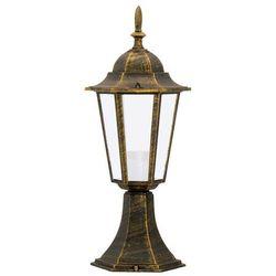 Lampa stająca niska Polux Liguria 42cm 1x60W E27 IP43 patyna ALU1047P1