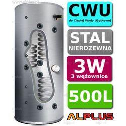 Bojler JOULE CYCLONE 500L 3-wężownice 3W nierdzewka wymiennik podgrzewacz CWU Wysyłka GRATIS!