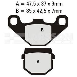 Klocki hamulcowe EBC (2 szt.) FA083TT 4100456 E-Ton EXL, Aeon Cobra, Suzuki RM 80