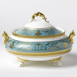 Royal Crown Derby Regency Turquoise Waza mała