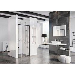 Ravak Pivot drzwi prysznicowe PDOP1-80, wys.190cm Czarny + Transparent 03G40300Z1