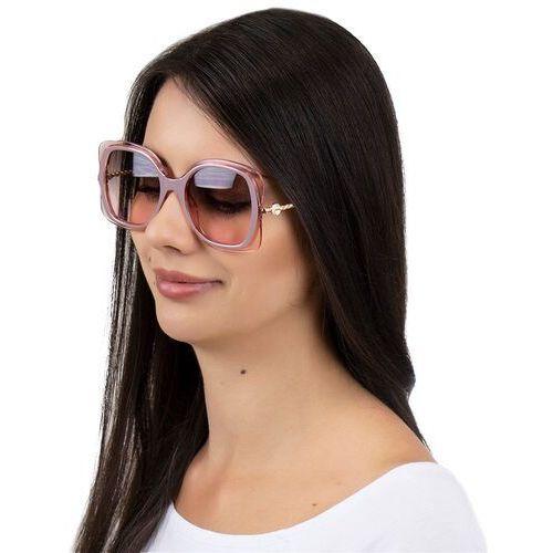 Okulary przeciwsłoneczne, Okulary przeciwsłoneczne damskie kwadratowe różowe