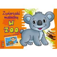Kolorowanki, Zwierzaki maluchy W zoo Malowanka z naklejkami
