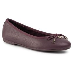 Baleriny TOMMY HILFIGER - Elevated Th Hardware Ballerina FW0FW04594 Deep Burgundy XIH