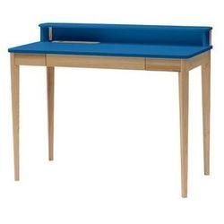 Biurko ASHME Jesionowe 110x56x75cm - Niebieskie