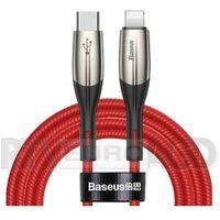 Okablowanie do aparatów, Baseus Kabel USB-C do Lightning PD Horizontal, Power Delivery, dioda LED, 2m (czerwony)