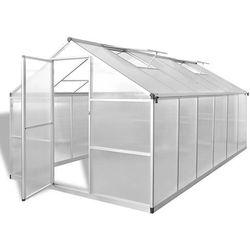 vidaXL Szklarnia ogrodowa ze wzmacnianą aluminiową ramą 9,025 m2