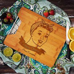 Najlepsza Gospodyni - deska do krojenia z grawerem - Deska bambusowa