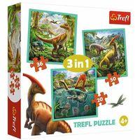 Puzzle, Puzzle 3w1 - Niezwykły świat dinozaurów - DARMOWA DOSTAWA OD 199 ZŁ!!!