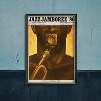 Plakaty, Plakaty w stylu retro Plakaty w stylu retro Festiwal Jazz Jamboree w Warszawie
