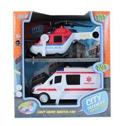 Zestaw służb specjalnych - helikopter i ambulans