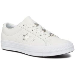 Tenisówki CONVERSE - One Star Ox 165020C Vintage White/Metallic Granite