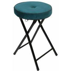 Składany stołek Margot Velvet morski - morski