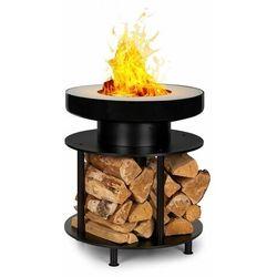 Blumfeldt Wood Stock, 2 w 1, misa paleniskowa, grill-barbecue, Ø56cm, stal nierdzewna, czarna
