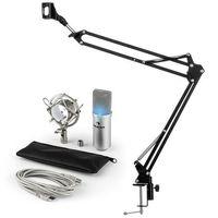 Mikrofony, MIC-900S-LED USB zestaw mikrofonowy V3 mikrofon pojemnościowy + ramię sterujące do mikrofonu LED srebrny