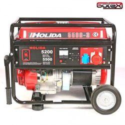 Agregat prądotwórczy, generator HOLIDA WM5500-3 trójfazowy 5,5 kW rozruch ręczny