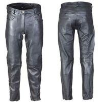 Spodnie motocyklowe damskie, Damskie skórzane spodnie motocyklowe W-TEC Annkra NF-1250, Czarny, 32
