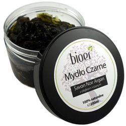 Mydło Czarne Savon Noir Arganowe z Olejkiem Różanym - 200ml - Bioer