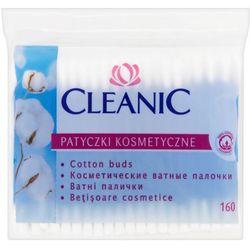 CLEANIC 160szt Patyczki kosmetyczne folia