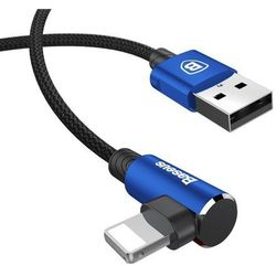 Baseus MVP | Kątowy wzmocniony kabel USB - Lightning iPhone 2A 100cm | niebieski - Niebieski \ 100cm