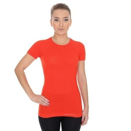 T-shirty damskie, BRUBECK koszulka ACTIVE WOOL damska ceglasty