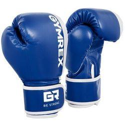 Gymrex Rękawice bokserskie dla dzieci - biało-niebieskie - 6 oz