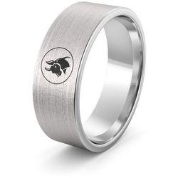 Obrączka srebrna z znakiem zodiaku byk - wzór ag-386