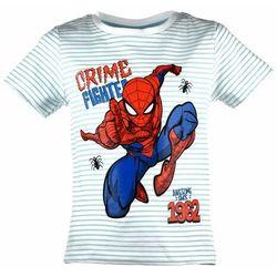 Biała bluzka dla dzieci z krótkim rękawem Spider-Man, kolor biały