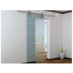 Vente-unique.pl Naścienne drzwi przesuwne glassy - wys. 205 × szer. 83 cm - szkło hartowane