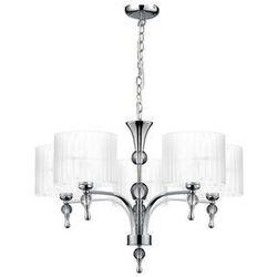 Azzardo impress 5 az1007 1976-5p wh lampa wisząca zwis oprawa 5x60w e27 chrom/biały - negocjuj cenę (5901238410072)