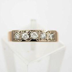 Złoty pierścionek z diamentami P1563, kolor żółty